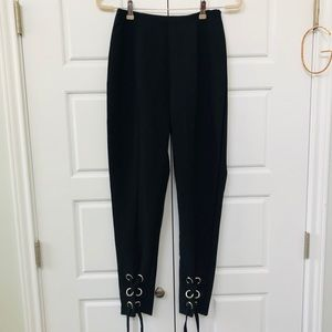 Missguided High Waisted Lace Up Pants
